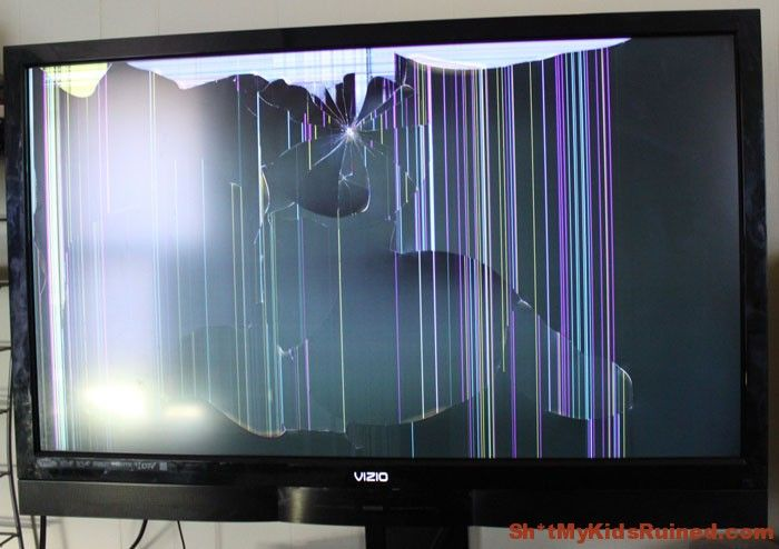 Broken LED TV Screen
